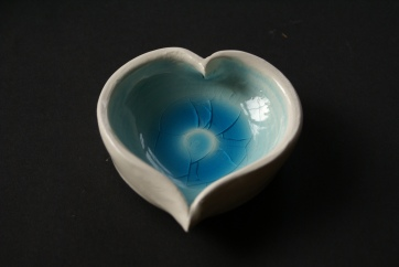 Heart dish turquoise